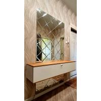 Треугольная зеркальная плитка графит 120х120 мм